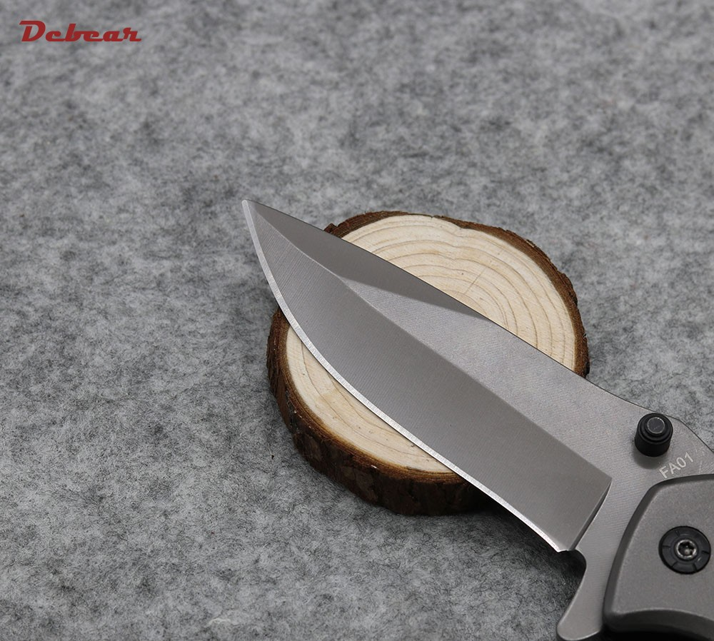 Buy Dcbear New Tactical Survival Folding Knife 5CR13MOV Blade High Quality Outdoor Knife Pocket Tool with Hardness 58HRC cheap