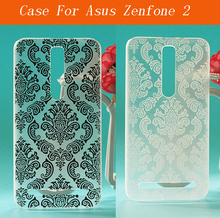 Black White Vintage Flower Pattern Case Asus Zenfone 2 ZE551ML Hard Back case cover - shenzhen fandatai technology company store