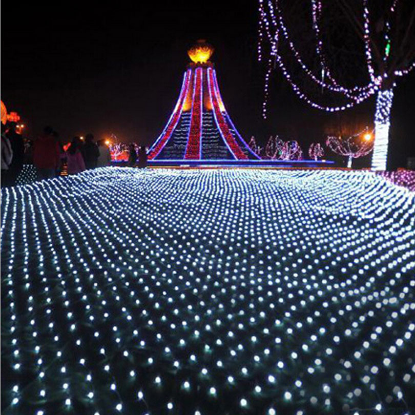 2M X 2M 144 Led Fairy Lights Festival Net Mesh String Xmas Party Wedding Christmas Lights Outdoor Decoration Holiday Lighting(China (Mainland))