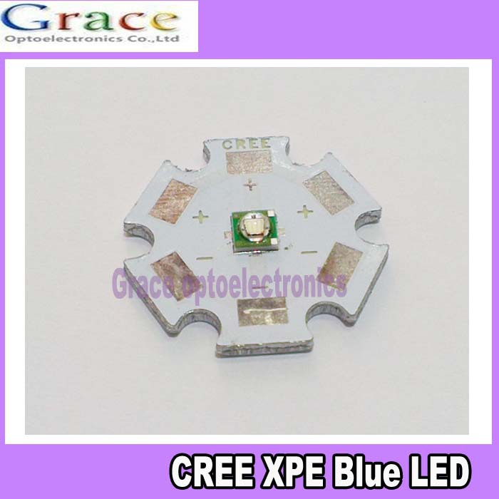 5pcs CREE XPE LED 1W 3W Blue 460-470nm LED Chip Emitter With 20mm star base(China (Mainland))