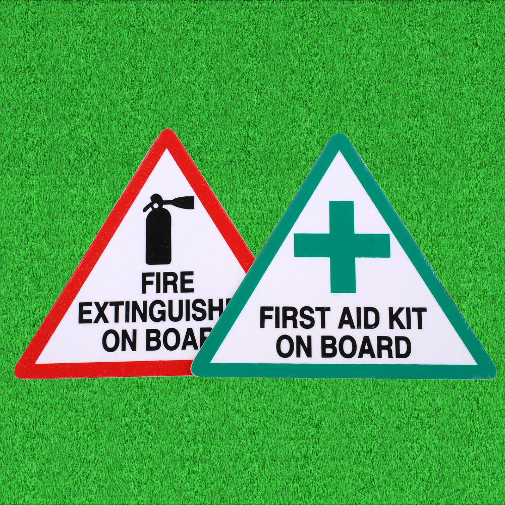 1 Pair Fire First Aid Decal Stickers Kit Cut Road Industrial Taxi Van Safety(China (Mainland))