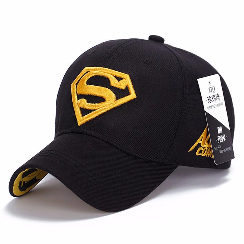 Hot Movie Superman Logo Casquette De Baseball Casual Haute Qualité