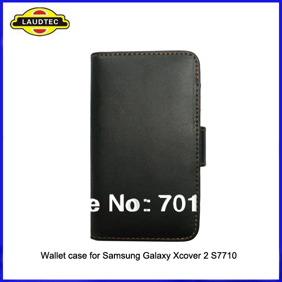 300pcs/lot,wallet leather case cover for Samsung Galaxy Xcover 2 S7710,Leather wallet case cover,DHL Free shipping