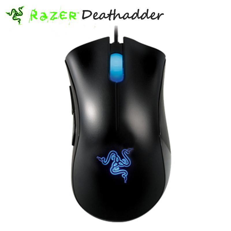 Original Razer Deathadder mouse 3500dpi 3.5G Infrared Sensor Egonomic Right-handed Gaming Mouse + Mice Bag Without Retail box