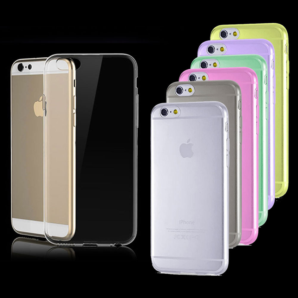 2015 New Soft Super 0.3mm Ultra-thin Clear TPU Case For Apple iPhone 6 4.7-inch Brand Crystal Back Cover Protect Skin Silicon(China (Mainland))