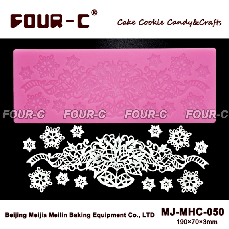 Newest silicone lace mold decoration baking tool for cake lace mat fondant lace,fondant mold,cake mold,cake decorating tools(China (Mainland))