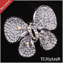 12PCS/lot Butterfly Crystal Brooch