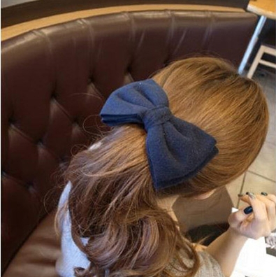 Cheap Value Korean version high-end boutique hair accessories hairpin multicolor wool cloth oversized bow spring clip - Magic Sheila store