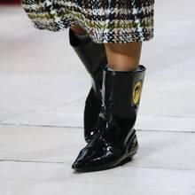 2018 yılan derisi yarım çizmeler kadınlar için rugan batı botas mujer fetiş martin çizmeler sivri burun düz topuk ayakkabı(China)