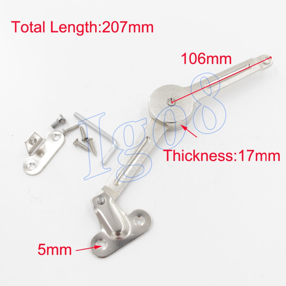 Cabinet Hardware Door Lift Up Hinge Stainless Steel Silvery Flap Stay(China (Mainland))