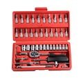 High quality 46 pcs Car Repair Tool Sets Combination Tool Wrench Set Batch Head Ratchet Pawl