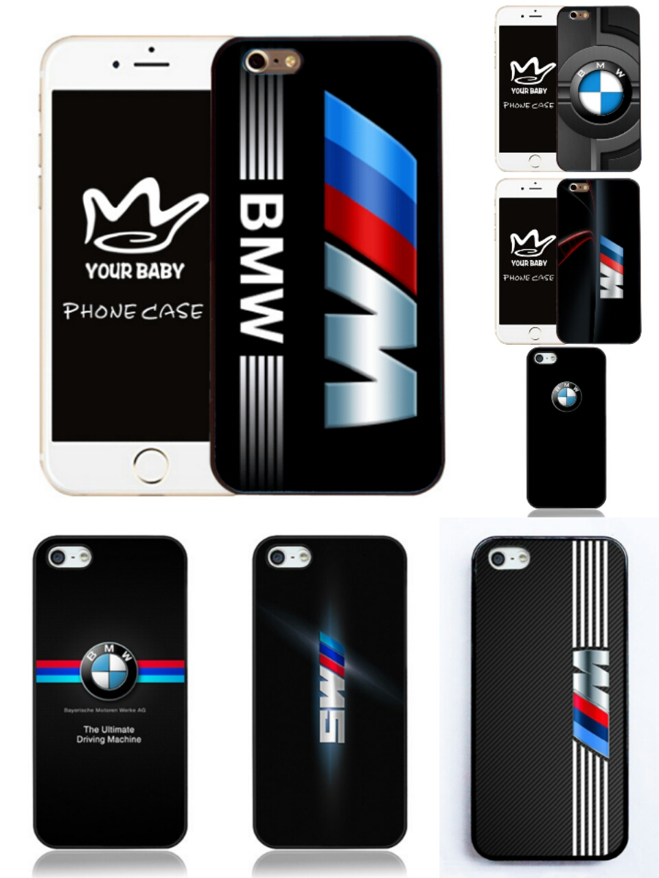 Hot Sales Special Jacket M Series M3 M5 Z4M M Power For BMW logo Case for Samsung S3 S4 S5 Note3 Note4 for iPhone 4 5 5c 6 6plus(China (Mainland))