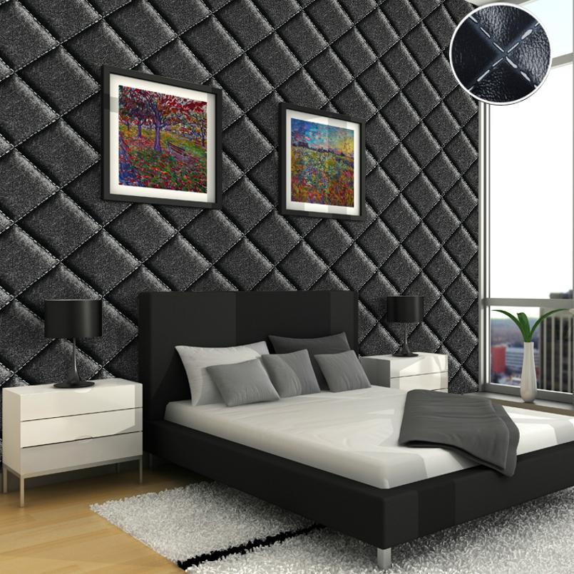 Modern contemporary geometric wallpaper 3d effect black for 3d effect bedroom wallpaper