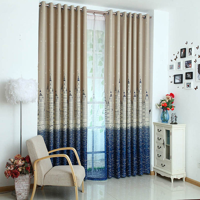 Modern Printing Thick Tende Camera Da Letto Blackout Curtain For ...