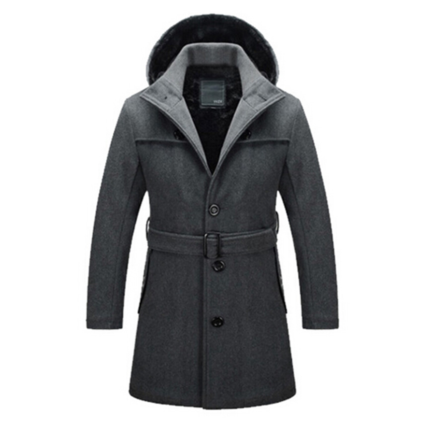 Size S 4XL 2015 Fashion Brand Winter Mens Jackets Coats Mens Winter Clothes Long Men Wool