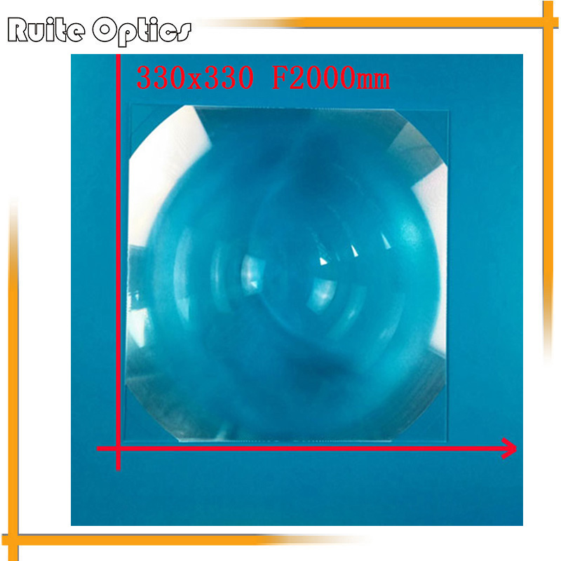 330x330mm Square PMMA Plastic Fresnel Condense Lens Solar Energy Large Focal Length 2000mm Plane Magnifier,Solar Concentrator(China (Mainland))
