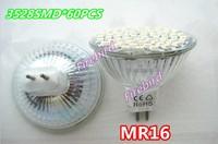 4 x MR16 60SMD 5W led spotlight, AC210-240V super white and warm white backlights, decorative lights, free shipping