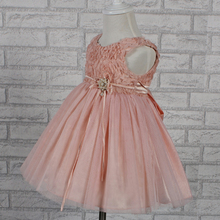Hot Sales Pink Infant Dress 2015 New Baby Girls Dress For Party Kids Dress For 1 Year Baby Girl Birthday Dress Factory China(China (Mainland))
