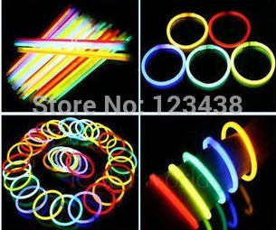 Glow Neon Flash Light Sticks with Connectors Party Supplies Light-Up Toys(China (Mainland))