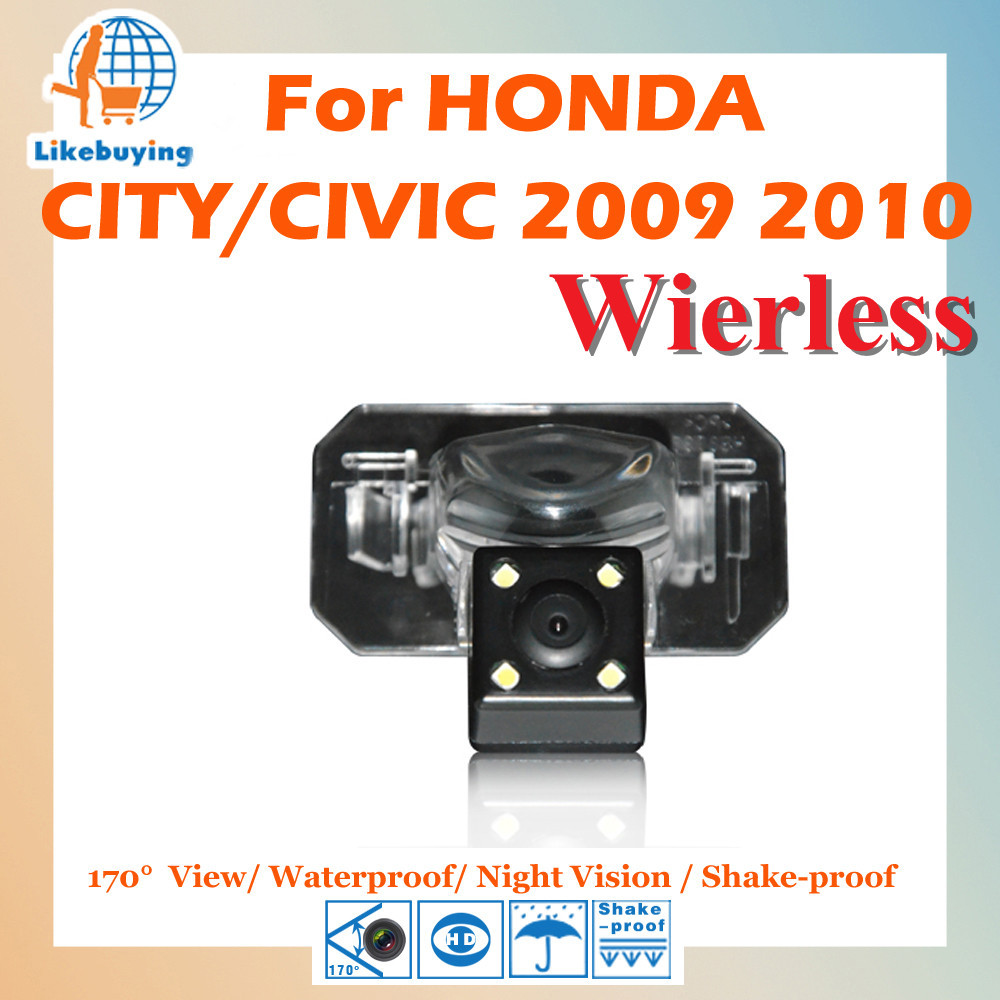 Wireless Parking Camera / 1/4 Color CCD HD Rear View Honda CITY CIVIC 2009 2010 Night Vision 170 Degree - Shenzhen Being Lucky Trading Co.,Ltd store