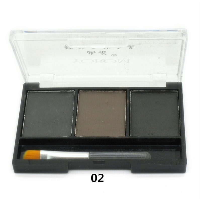 Гаджет  New Arrivals Makeup 3 Colour Eyebrow Powder/Eye Shadow Palette Waterproof + Brush  None Красота и здоровье