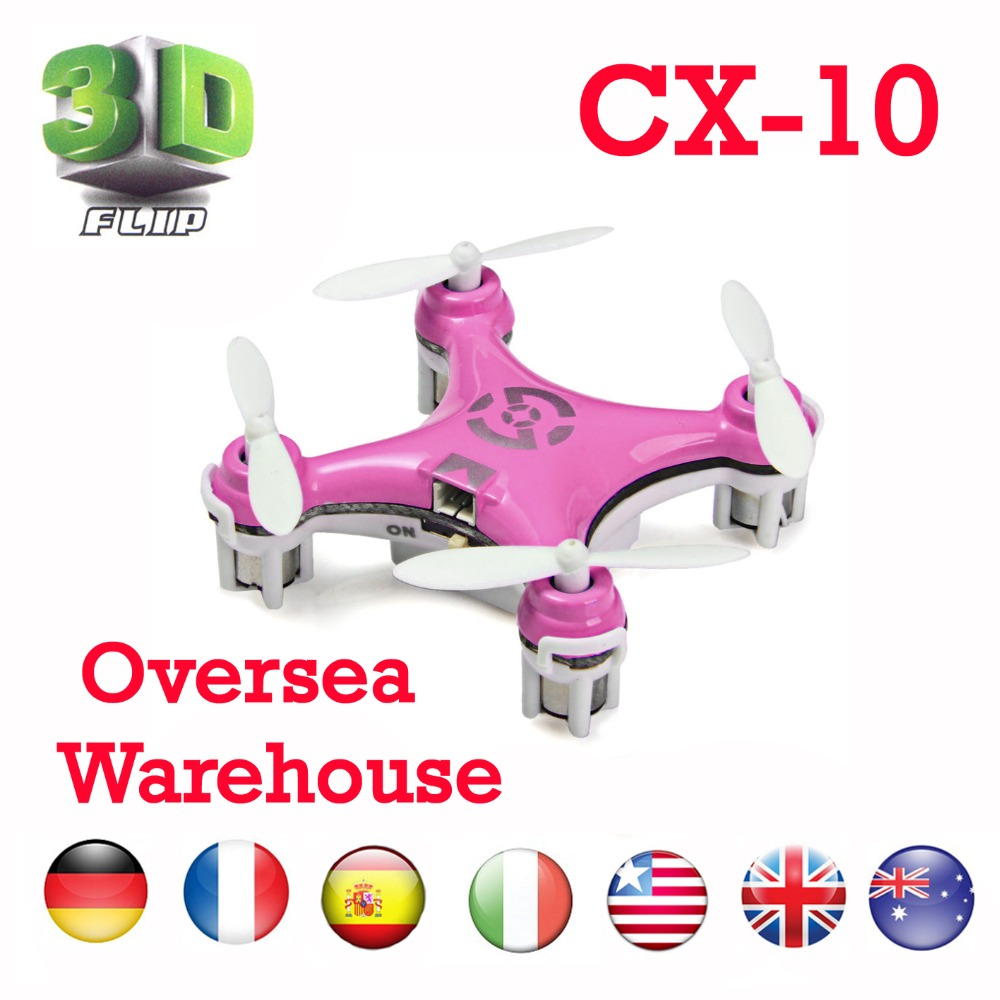 Cheerson CX-10 Quadcopter 2.4G RC Mini drone remote control rc helicopter cx 10 Channel 6 with led light 360 Degree Stunt(China (Mainland))