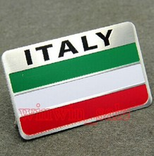 Rectangle Auto car Aluminum Italy Italian Flag Emblem Badge Sticker Fit VW Polo Golf Fiat Punto Panda ect - ShenZhen Enjoy Accessary Co.,Ltd store