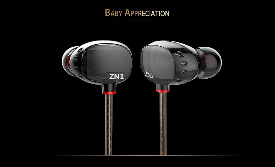 QKZ N1 Dual Driver Earphones and Headset mini Extra Bass Turbo Wide Sound Field Earphone fone de ouvido auriculares audifonos