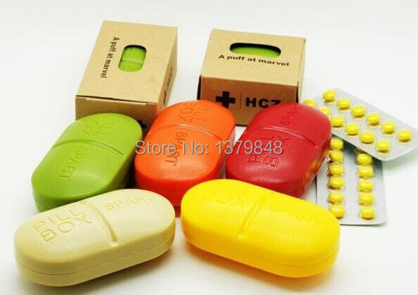 5 PCS/LOT Pill Box 6 Part A Puff At Marvel 6 Part Pill Box(China (Mainland))