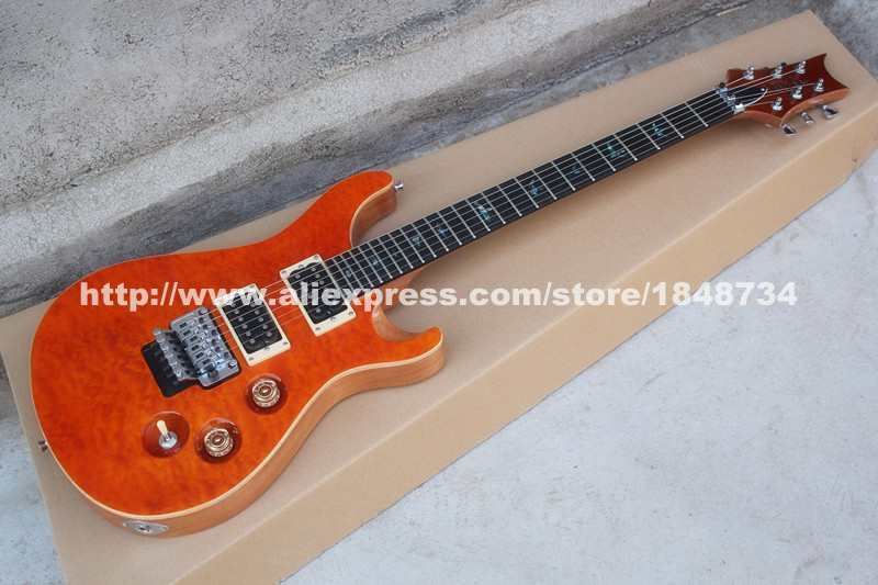 Reed smith PR 24 product double roll electric guitar orange clouds grain veneer factory outlets can be customized color Free shi(China (Mainland))