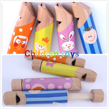 Green Early Education Children Toy Well Designed Wooden Plastic Kid Piccolo Flute Musical Instrument (China (Mainland))