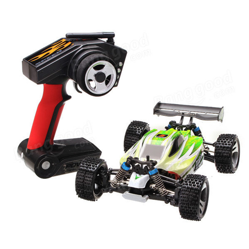 70km/h WLtoys A959-B 1/18 4WD Buggy Off Road 1:18 RC Car 2.4G Radio Control Truck RTR RC Buggy With Battery A959 Updated Version(China (Mainland))