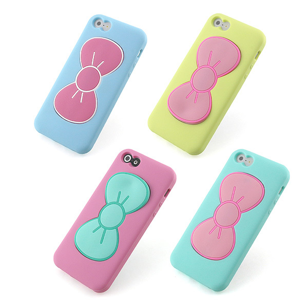 Popular silicon case cover For iPhone 5 5S 5G back cover butterfly case with stand function(China (Mainland))
