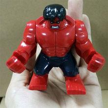 Chegada nova Os Vingadores Heróis Hulk Batman Action Figure Toys Legoings Thanos Modelo Brinquedos para Crianças Presentes de Natal Aniversário(China)