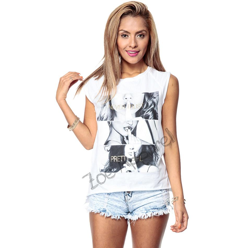 New arrival women shirts 2015 Summer style NEVER TRUST A PRETTY GIRL letter print women top tees plus size women t-shirt(China (Mainland))
