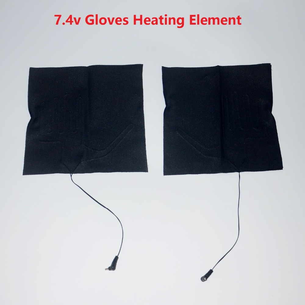 7.4v DC battery heated gloves DIY heating pad/ heating element(China (Mainland))
