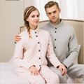 2016 Winter Europe America Couples Leisurewear Cotton Products Men More Pure Color Warm Leisure Wear Clothes