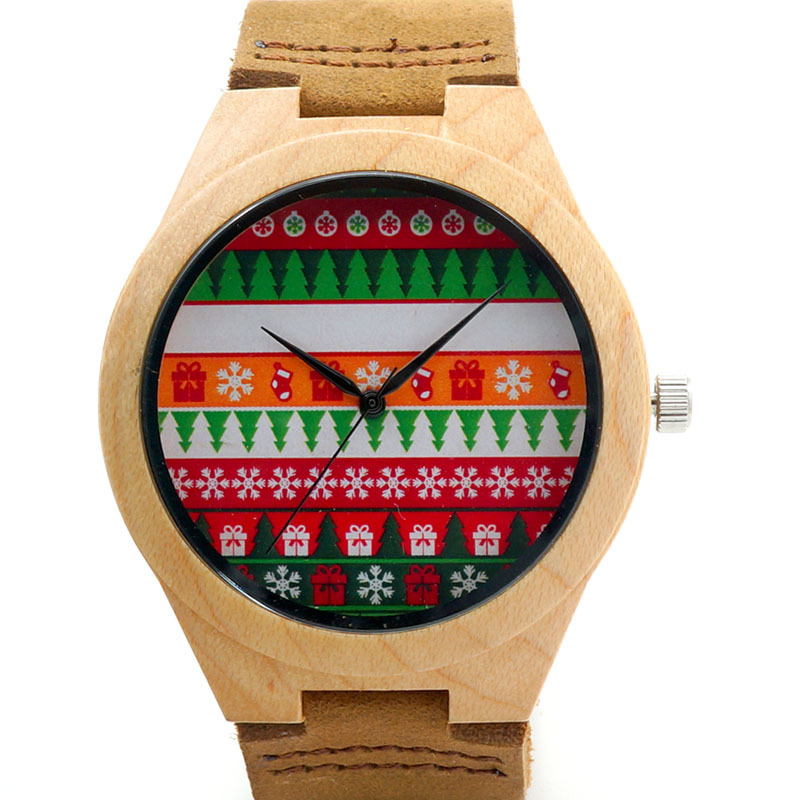 Bobobird 2015 Christmas Season Gift Design for Anniversary Edition Christmas Series of Wooden Watches Real Leather Quartz Watch<br><br>Aliexpress