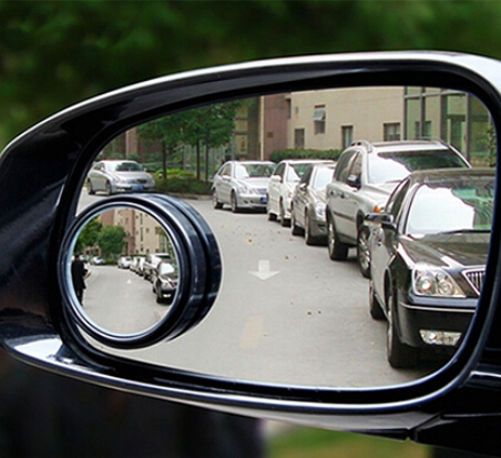 New Auto Side 360 Wide Angle Round Convex Mirror Car Vehicle Blind Spot Dead Zone Mirror RearView Mirror Round Mirror 1 PCS(China (Mainland))