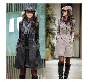 Trench coat in winter – Modern fashion jacket photo blog