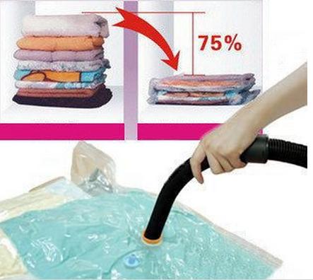Free shipping Hot Sale Large Space Saver Saving Storage Bag Vaccum Seal Compressed Organizer Wholesale and retail(China (Mainland))