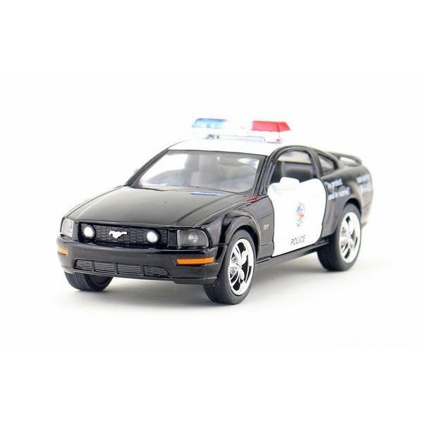Children Kids Kinsmart 2006 Ford Mustang GT Police Model Car 1:38 KT5091P 5inch Diecast Metal Alloy Cars Toy Pull Back Gift(China (Mainland))
