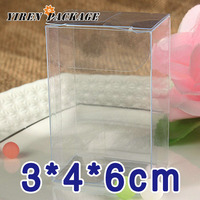 3*4*6cm clear package box / plastic display case / gift packaging box / macaron boxes / 100% guarantee / party favor