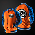 Free shipping new men s fashion trend Printed word Wu Dragon Ball baseball uniform jacket sweater