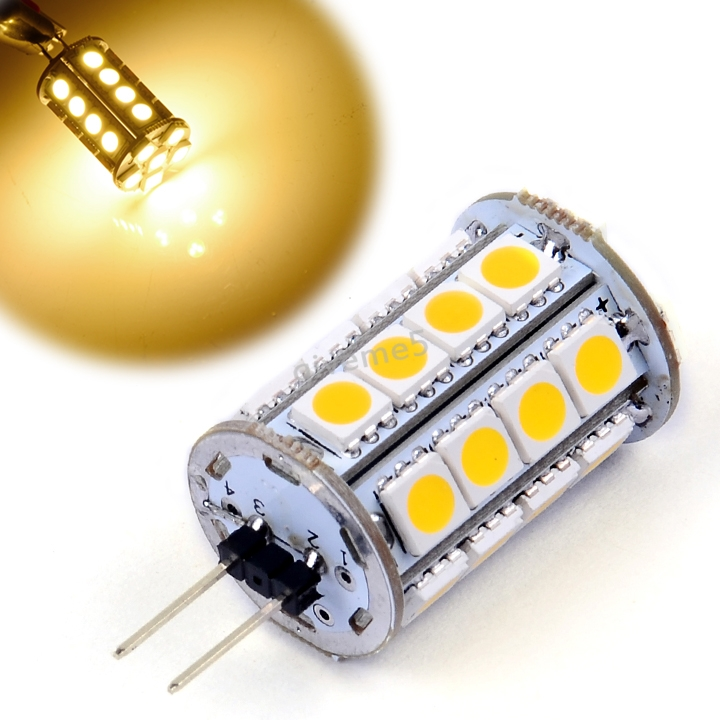 High Quality G4 Led Bulb DC 12V Lamp 30 Led Light Blub Warm White Led Corn Bulb Light Free Shipping Z(China (Mainland))