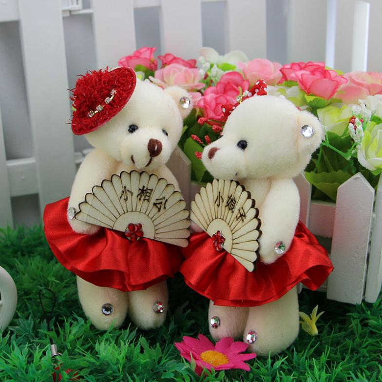 Wedding Doll Teddy bear little lady Little Messire cartoon toys wholesale the bride and groom doll creative wedding gifts(China (Mainland))