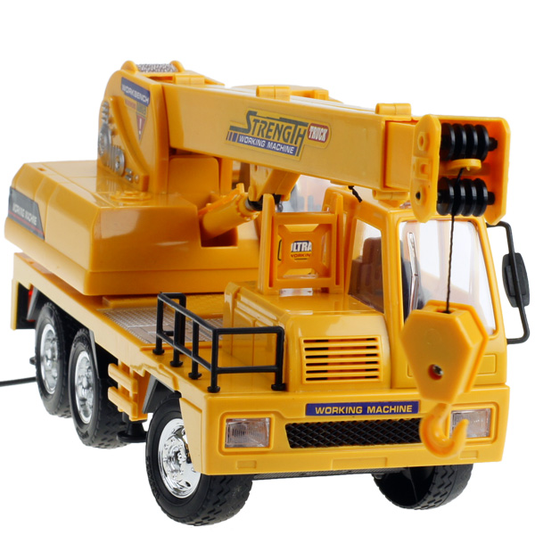 New electric crane wire model truck Large toys remote control car rc toys model car gifts toys for baby kids Christmas Birthday(China (Mainland))