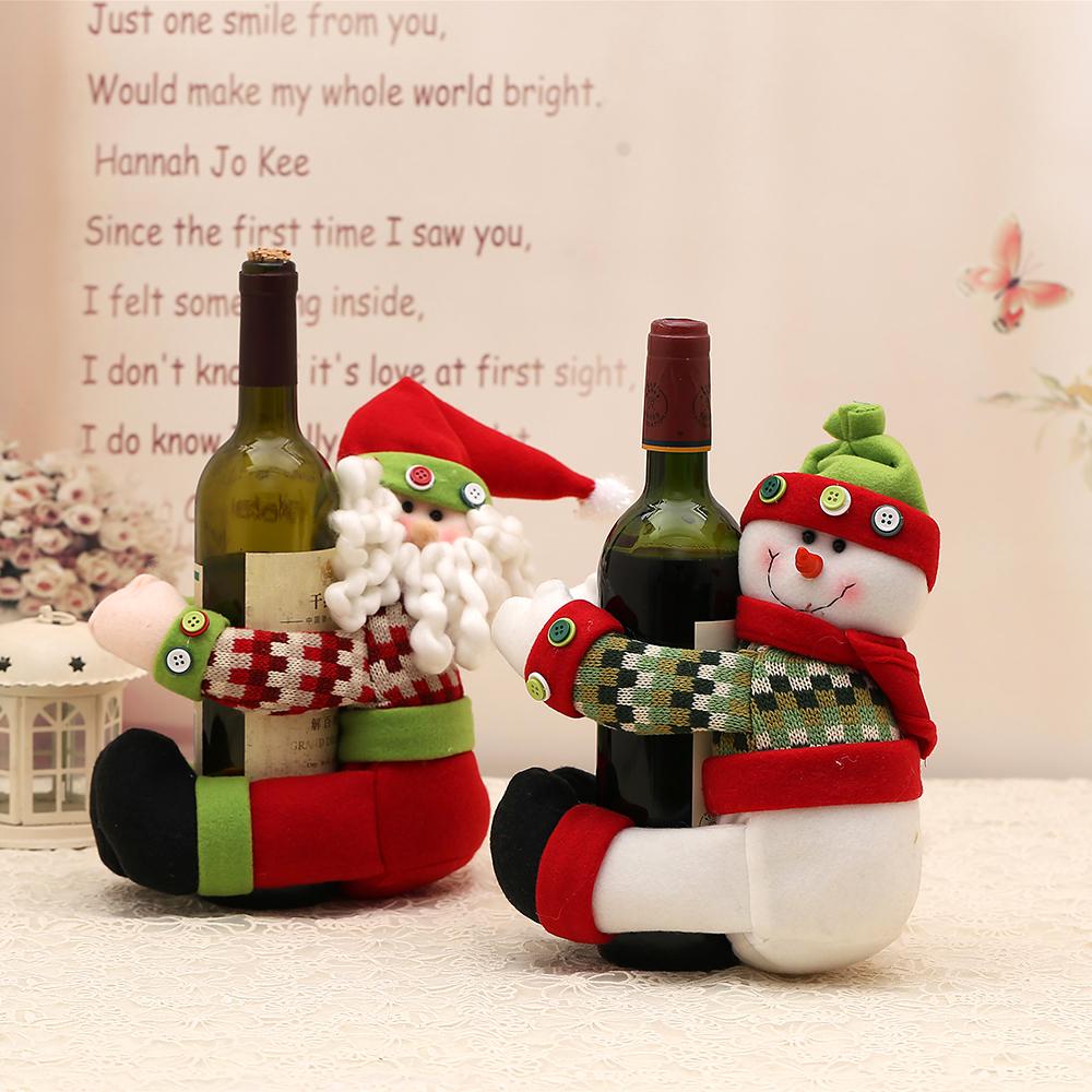 새해 선물 크리스마스 메리 크리스마스 눈 와인 병 홀더 테이블 ...