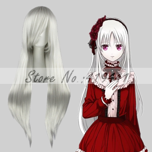 80cm FINAL FANTASY-Sephiroth Silver White Synthetic anime cosplay wigs