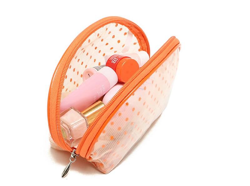 2016 New Hot Sale Transparent Three Layers waterproof PVC Spot Shell Type Bag Women Cosmetics Bags HBG32 (14)